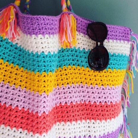 Crochet Tote Bag Tutorial Part 1 : Free Summer Crochet Patterns to get the Season Started ...